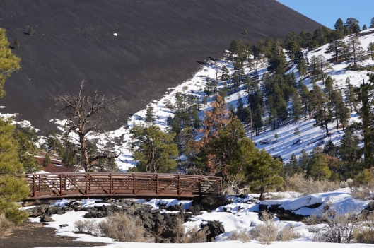 Southern face of the Sunset Crater.