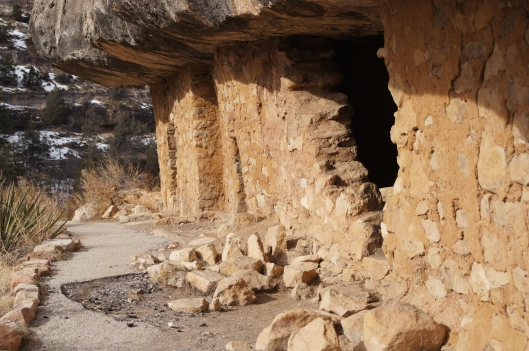 The trail was partially closed due to weather and safety conditions. However, we were able to look inside.