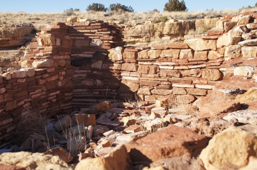 One of the rooms inside the Lomaki Pueblo.