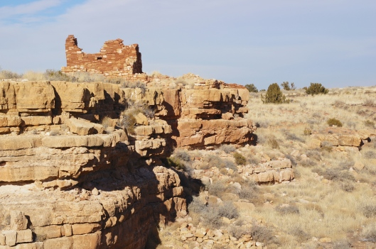Here's a view from the Lomaki Pueblo.