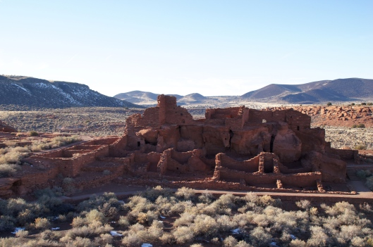 Wupatki Pueblo is the largest pueblo in the monument.