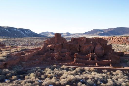 Wupatki Pueblo is the largest pueblo in the monument.