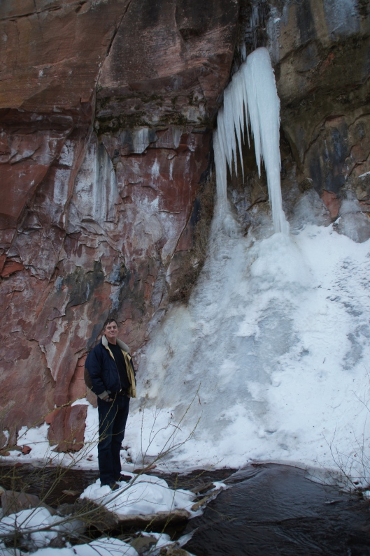 Bryon, not easily dwarfed by the surroundings.
