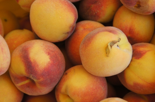 Peaches. Bryon is canning them as I blog.